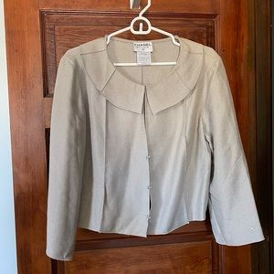 Vintage Chanel Grey Trapeze Jacket